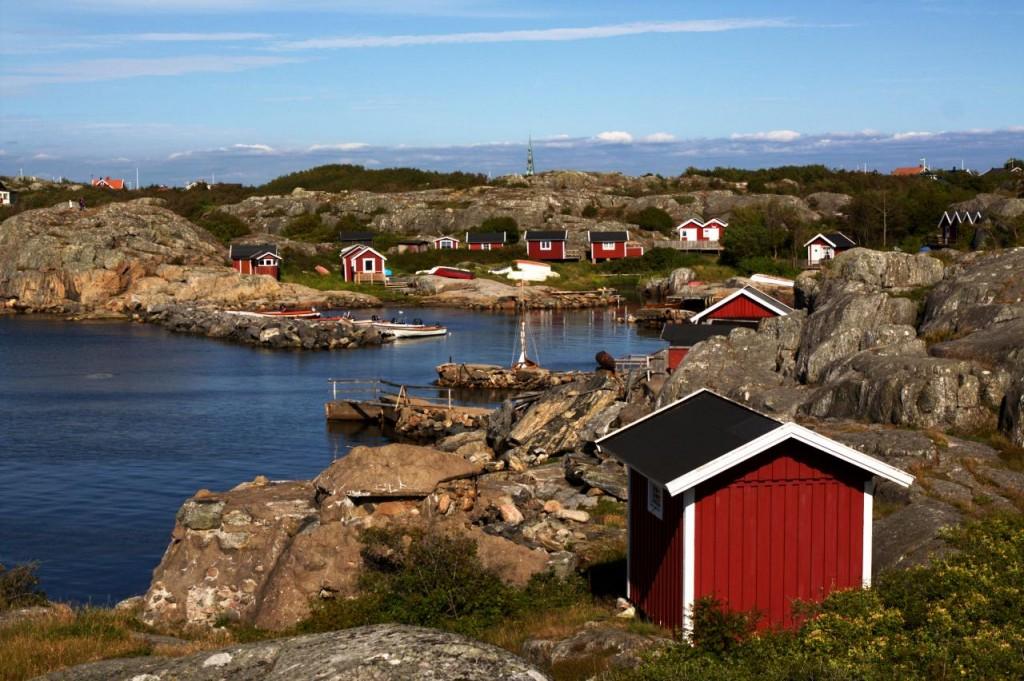 Ein kleiner  Hafen auf Öckerö